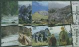 NZ SG2714a-20a Lord of the Rings: Home of Middle Earth set of 8 in vertical pairs
